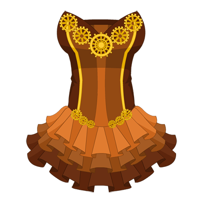 Whimsical Gear Accent Dress