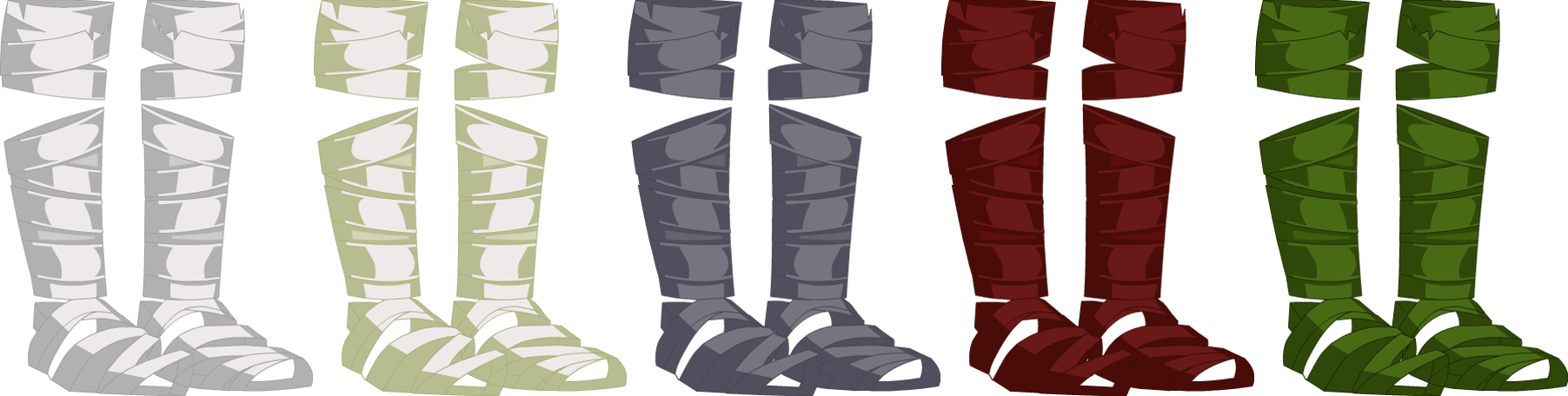 Knife-Head Foot Wraps