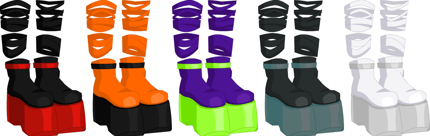Tatter Demon Boots - Male