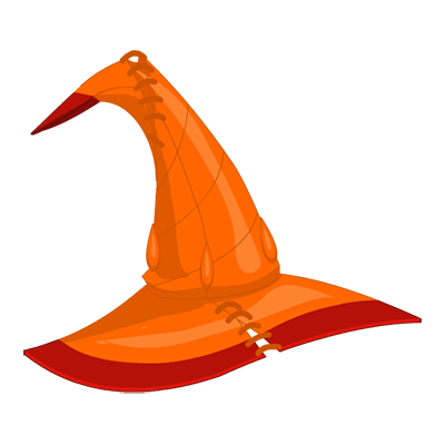 Flame Wizard Hat