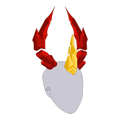 Crimson Flame Basilisk Horns