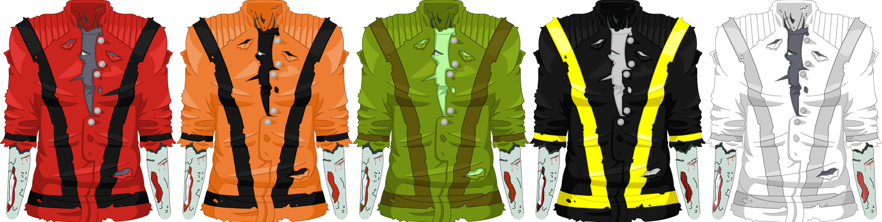 October 2008 Thriller Zombie Jacket - Male