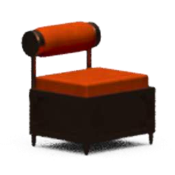 Orange Memory Chair