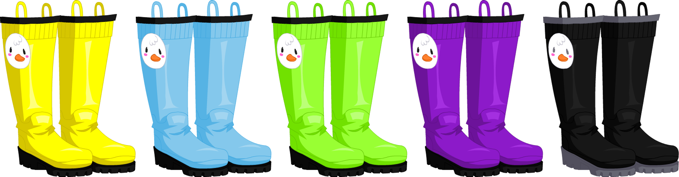 Apr. 2016 Rainy Day Duckling Boots