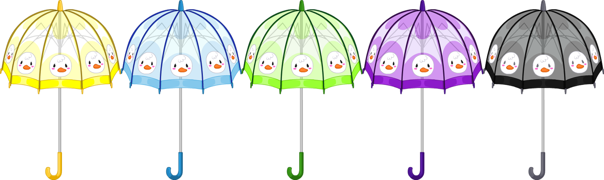 Apr. 2016 Rainy Day Duckling Umbrella
