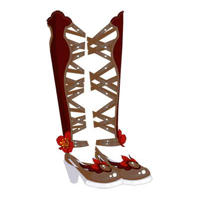 Frigid Floral Shoes - Winter Love Variant